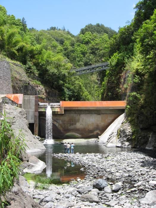 Transfert des eaux, La Réunion