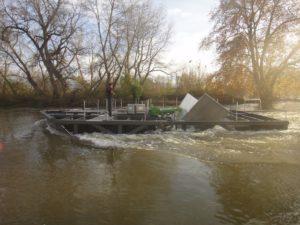 Hydrolienne sur la Loire, par Laurent Philippe, Biotope.