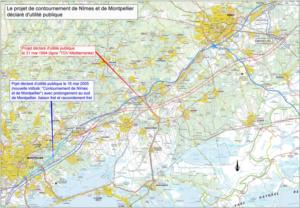 Carte de contournement de Montpellier, Biotope.