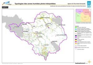 Typologies des zones humides photo-interprétées