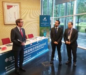 Discours de l'Ambassadeur de France en Chine, pendant la signature de l'accord de coopération sur l'eau entre Biotope et les 5 partenaires chinois.