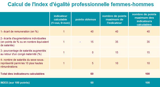 index égalité hommes femmes